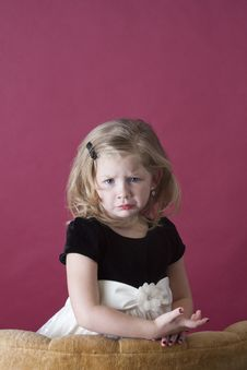 Free Sad Little Model Royalty Free Stock Photography - 17370937