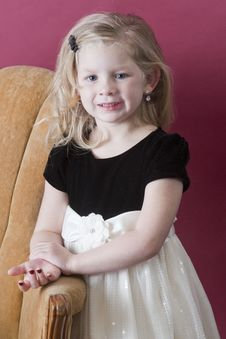 Free Happy Little Model Royalty Free Stock Photography - 17370947