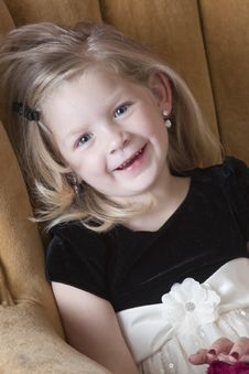Free Happy Little Model Stock Photo - 17370960