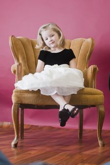 Free Little Girl Posing Royalty Free Stock Photography - 17370967