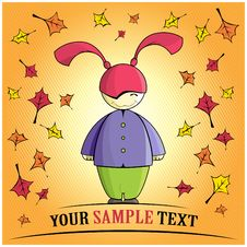 Free Autumn Cartoon Girl Stock Photography - 17371222