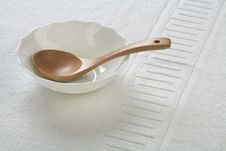 Free Wooden Spoon In Bowl Royalty Free Stock Photos - 17371338