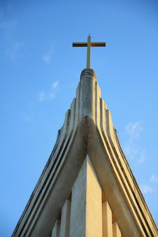 Free Church And Cross Stock Photography - 17371762