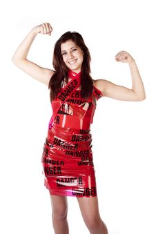Free Happy Woman Muscles Danger Royalty Free Stock Photography - 17371827