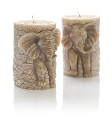 Free Two Candles On The Form Of Elefant Royalty Free Stock Images - 17372129