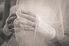 Free Wedding. Hands Of The Bride Close Up. Stock Image - 17373061