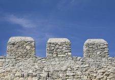 Free Merlons Of An Old Fortress Wall Stock Image - 17373391