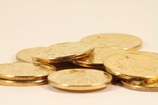 Free Golden Coins Royalty Free Stock Photo - 17373405