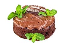 Free Chocolate Cake And Mint Royalty Free Stock Photo - 17373425