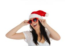 Free Funny Sexy Santa Clouse Woman In Casual Clothes Stock Image - 17373761
