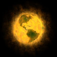 Free Total Warming Of Planet Earth - America Royalty Free Stock Photo - 17373795