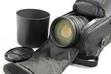 Free Zoom Lens In Its Case Royalty Free Stock Photos - 17374448