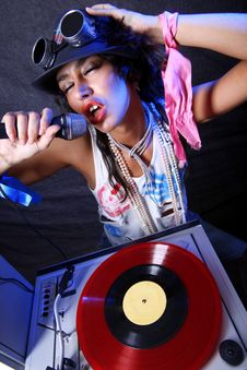 Free Cool DJ In Action Stock Image - 17374721
