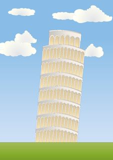 Free Leaning Tower In Pisa Stock Images - 17374884