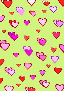 Free Hearts Pattern Stock Photos - 17376473