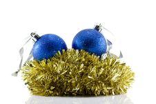 Free Christmas Balls And Tinsel Stock Image - 17376591