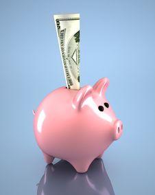 Free Piiggy Bank Royalty Free Stock Image - 17376596
