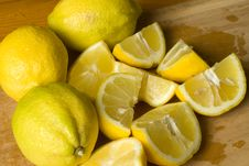 Free Freshly Cut Lemon Wedges Royalty Free Stock Photos - 17376718