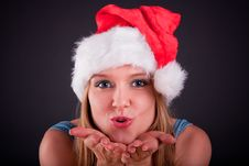 Free Christmas Girl Royalty Free Stock Image - 17377076