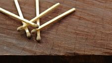 Free Matches On Wood Stock Photos - 17377203