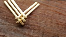 Free Matches On Wood Royalty Free Stock Photo - 17377225