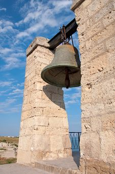 The Ancient Orthodox Bell, Ancient Architecture Stock Photo