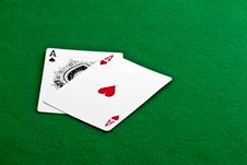 Free Pair Of Aces Stock Images - 17377604
