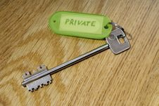 Key Private Royalty Free Stock Images