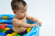 Free Kid Playing Toy In Bath Stock Photos - 17378013