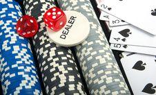 Free Poker Set Royalty Free Stock Photo - 17378135