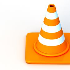Free The 3d Traffic Cones Stock Photography - 17378622