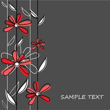 Free Floral Vector Background Stock Photography - 17378742