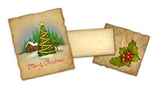 Free Old Christmas Greeting Card Royalty Free Stock Photos - 17378858
