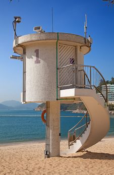 Free Lifeguard Tower Royalty Free Stock Image - 17378876