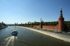 Free Moscow, View Of The Moskva River And The Kremlin Stock Photography - 17378992