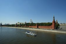 Moscow, View Of The Moskva River And The Kremlin Stock Photography