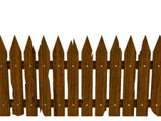 Free Wooden Fence From Crashed Brown Boards Stock Photo - 17379640