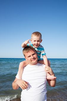 Free Happy Father And Son Stock Photo - 17379900
