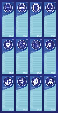 Free 2011 Health And Safety Calendar Royalty Free Stock Photos - 17379928