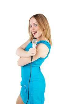 Free Girl Singing Stock Photo - 17379960