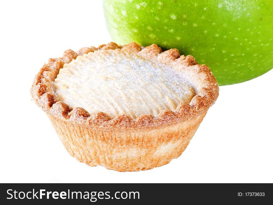 Apple pie with apple