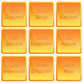 Free Shop Button Set Royalty Free Stock Images - 17385589