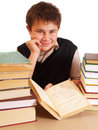 Free Boy And Books Stock Photography - 17388132