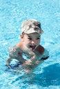 Free Little Joy Boy Swims In The Sea Royalty Free Stock Photos - 17388798