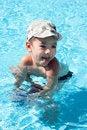 Free Little Joy Boy Swims In The Sea Stock Image - 17388821
