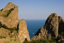 Kara-Dag Mountains Royalty Free Stock Image