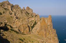 Kara-Dag Mountains Stock Images