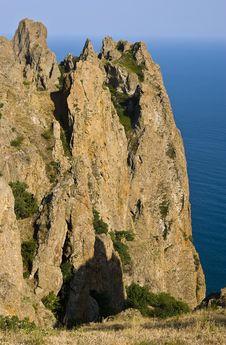 Kara-Dag Mountains Royalty Free Stock Photo