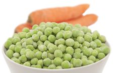 Free Carrots And Green Peas Royalty Free Stock Image - 17380546