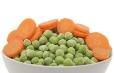 Free Carrots And Green Peas Royalty Free Stock Image - 17380586